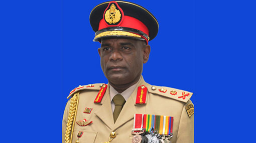 Outgoing army chief promoted to General