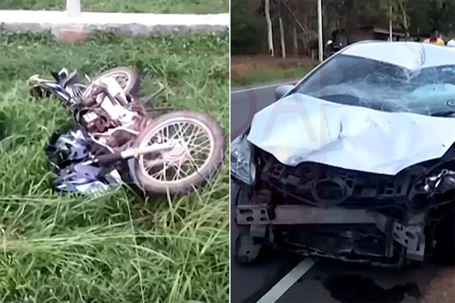 Motorcyclist critical in head-on collision involving car