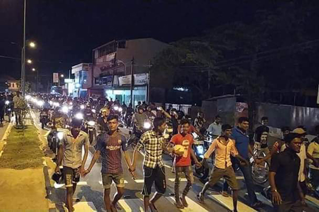 Police fire tear gas at protesters in Batticaloa