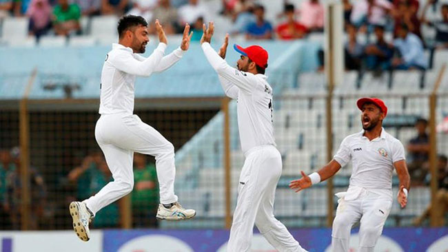 Rashid leads Afghanistan to historic win against Bangladesh