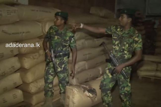 18,000kg haul of refuse tea  seized at Wattala