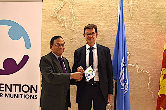 Sri Lanka praised for advancing the Cluster Munitions Convention's objectives