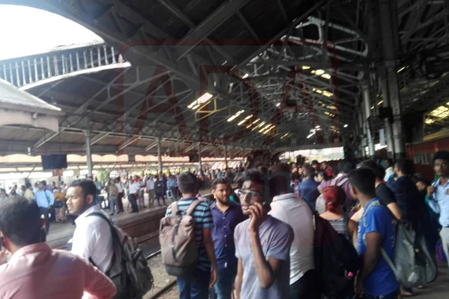 Tense situation at Fort railway station