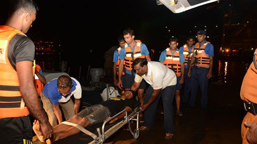Navy assists injured seaman of oil tanker