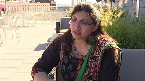 Pakistani rights activist flees to US via Sri Lanka