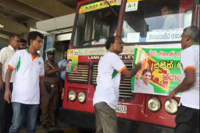 Bus with Galle Face rally supporters cause tense situation at highway