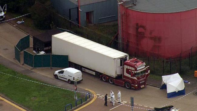 UK police launch mass murder probe after 39 bodies found in truck