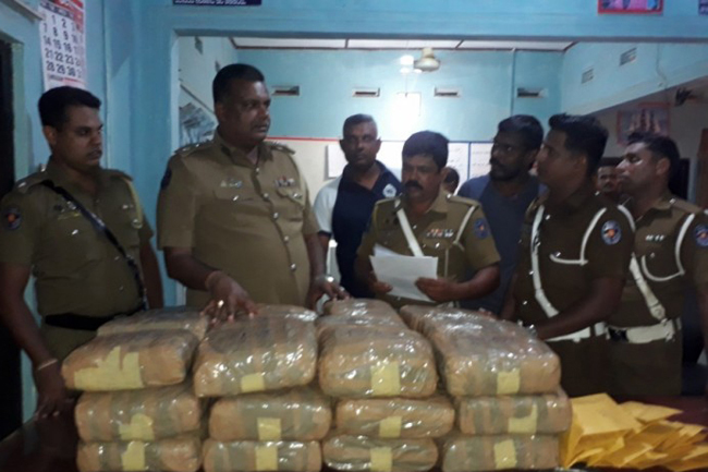 Suspect nabbed with 80kg of Kerala Cannabis