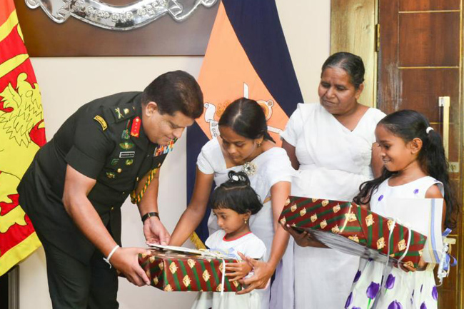 Compensations for fallen SL peacekeepers' families...