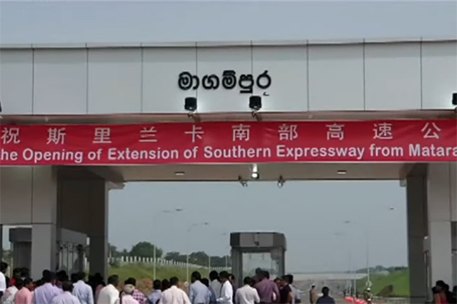 Three sections of Southern Expressway opened amidst protests