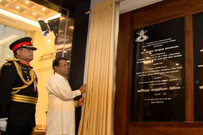 President declares open new Army Headquarters