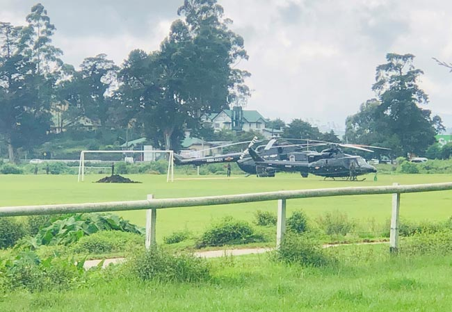 TISL questions use of SLAF helicopters to transport politicians to campaign rallies