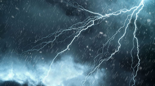 Severe lightning warning for several districts