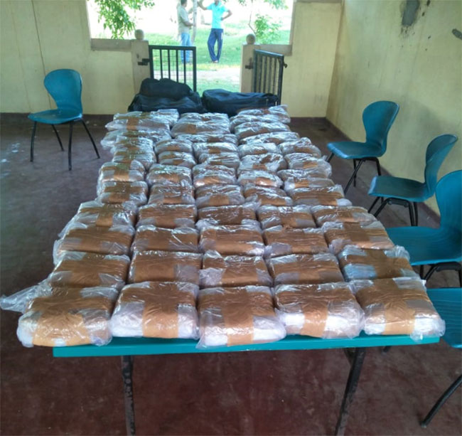 Two including teen arrested with 105kg of Kerala Ganja