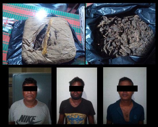 Three drug peddlers nabbed in Kiribathgoda