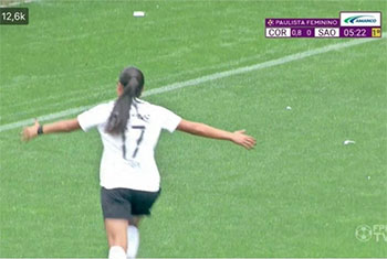 Women's football: Why a scoreboard in Brazil read 0.8 after a goal