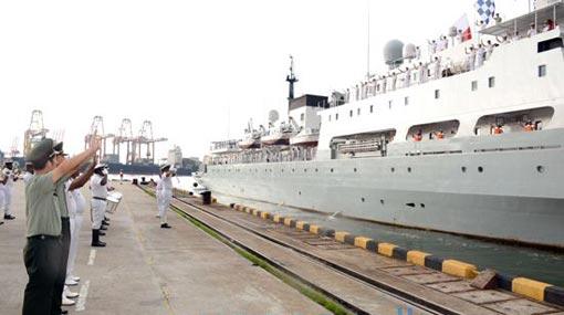 'Zhu Ke Zhen' departs Colombo harbor after successful tour