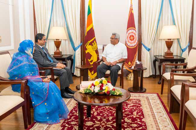 Bangladesh HC visits President Rajapaksa