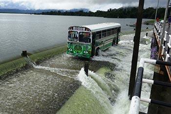 Kandalama Reservoir spills...
