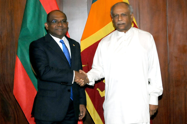 Maldivian Foreign Minister appreciates deep-rooted bilateral relations with Sri Lanka