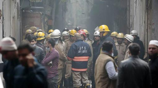 43 dead in fire at luggage manufacturing factory in Delhi