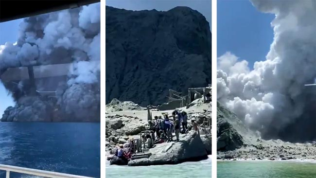 New Zealand volcano eruption leaves 1 dead, tourists missing