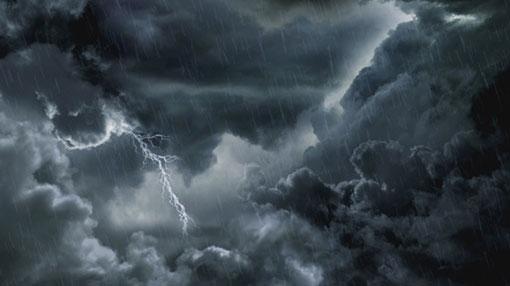 Warning for severe lightning and rain