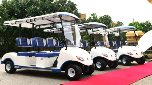 China provides bicycles, buggies to support Navy's Green & Blue concept