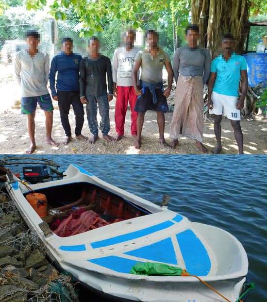 Seven arrested for illegal fishing in Nilaveli