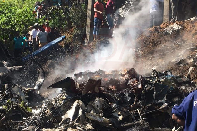 Four Air Force Personnel Killed In Aircraft Crash At Haputale