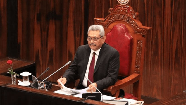 President's full statement in Parliament