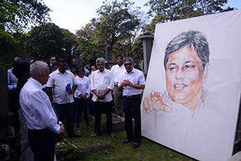 Lasantha's 11th death anniversary...