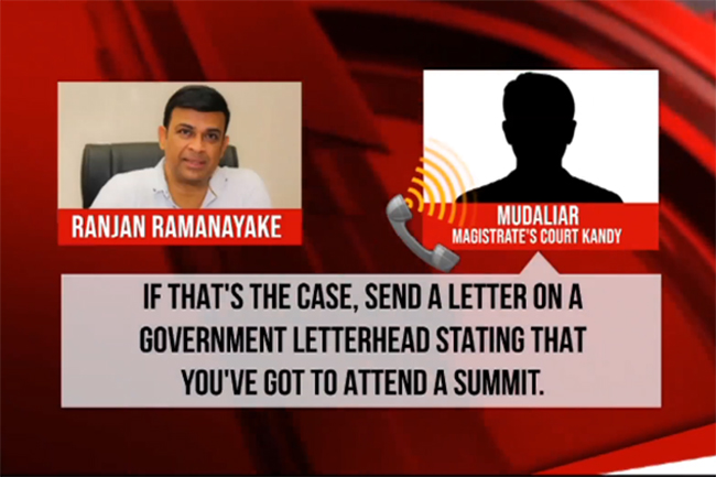 Ranjan's phone call with a judicial interpreter revealed