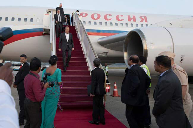 Russian foreign minister arrives in Sri Lanka
