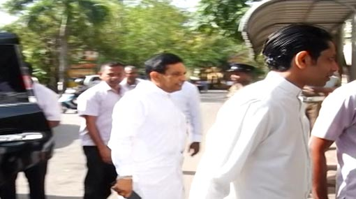 Rajitha arrives at CID to record statement