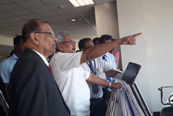 President inspects Katunayake Airport...