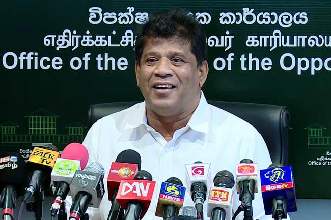 All parties agree to Sajith's UNF leadership - Mannapperuma