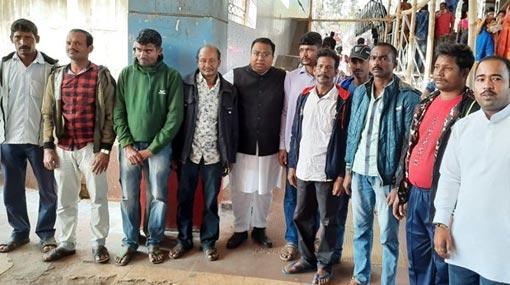 Eleven Indian workers stranded in Sri Lanka return home