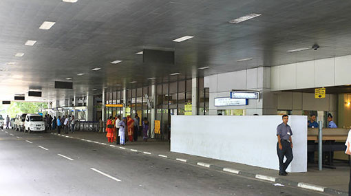 Visitors banned from entering airport premises