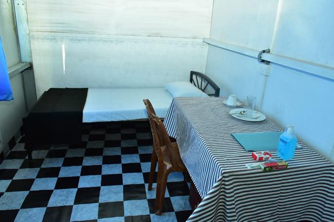 Quarantine facility at Diyatalawa Camp…