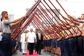 President honoured by his alma mater...