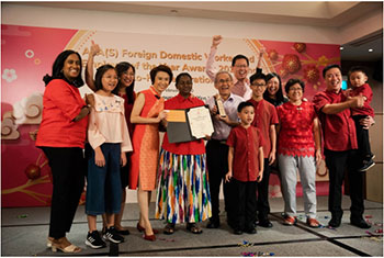 Sri Lankan wins Foreign Domestic Worker of the Year Award...