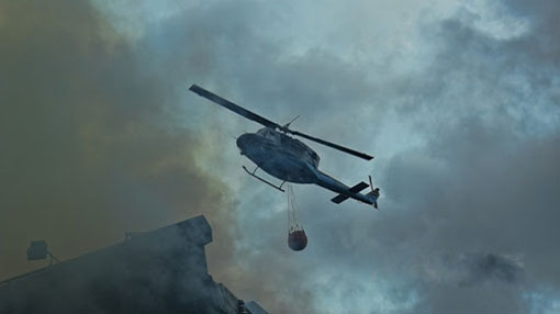 SLAF deploys helicopter to help douse fire in Seeduwa