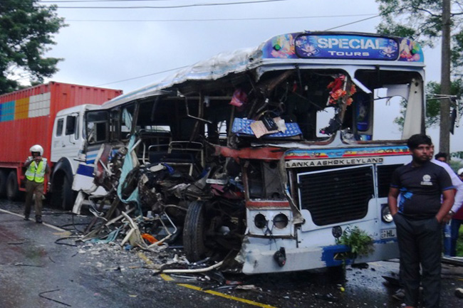 Fatal bus collision in Matale...