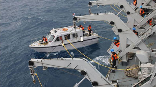 Indian, Sri Lankan Navy joint hydrographic survey op progresses