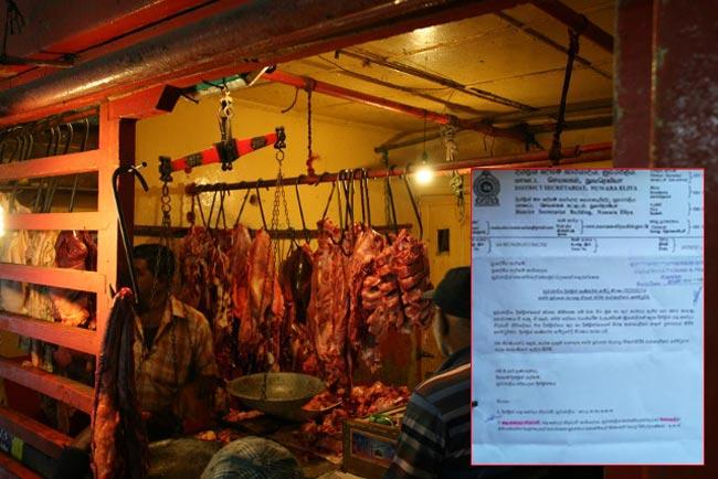 Sale of beef in Nuwara Eliya temporarily halted from tomorrow