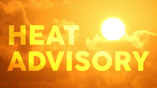 Heat advisory issued for several provinces
