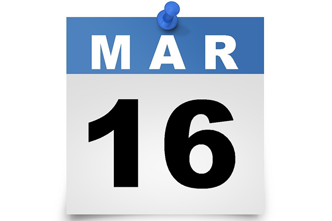 March 16 declared a public holiday