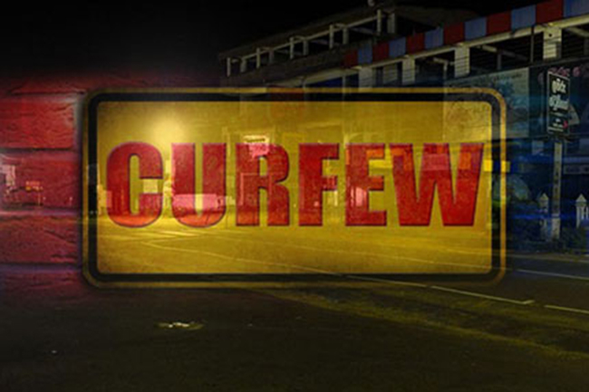 Island-wide curfew to be imposed until Monday