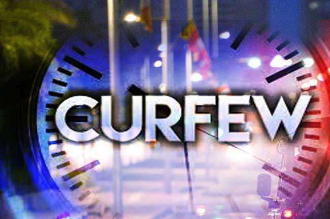 Updated schedule for curfew announced